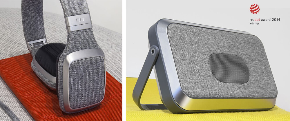 Le casque Gïotto, l'enceinte Emïly et l'étui Louïse, de la collection Ora-Ïto Mobility, lauréats des Red Dot Design Awards 2014