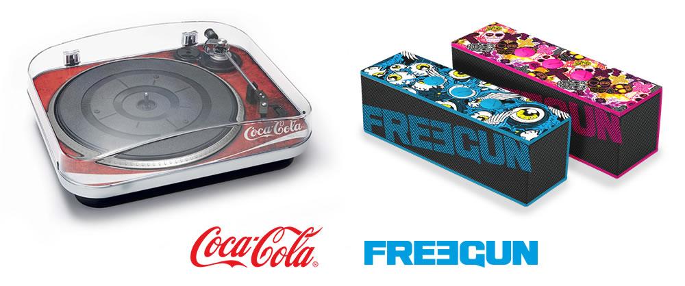 Bigben - Gamme Audio licenciée Coca-Cola et Freegun